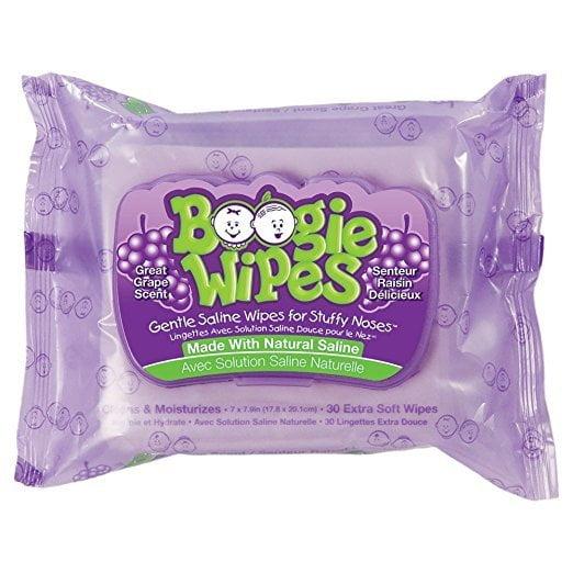 Lenços de Nariz Boogie Wipes  - Cheiro Uva