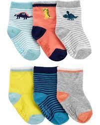 Meia Carters Baby Dino -  Kit com 6 pares