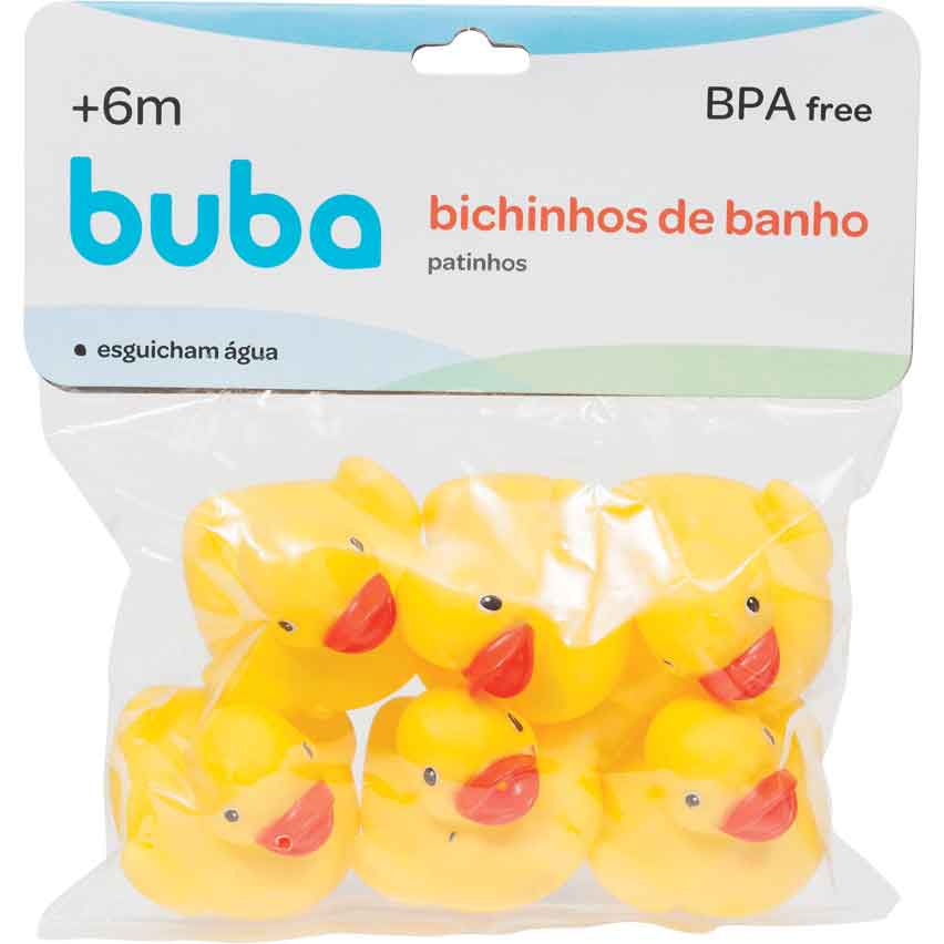 Patinho de Banho Amarelo Buba