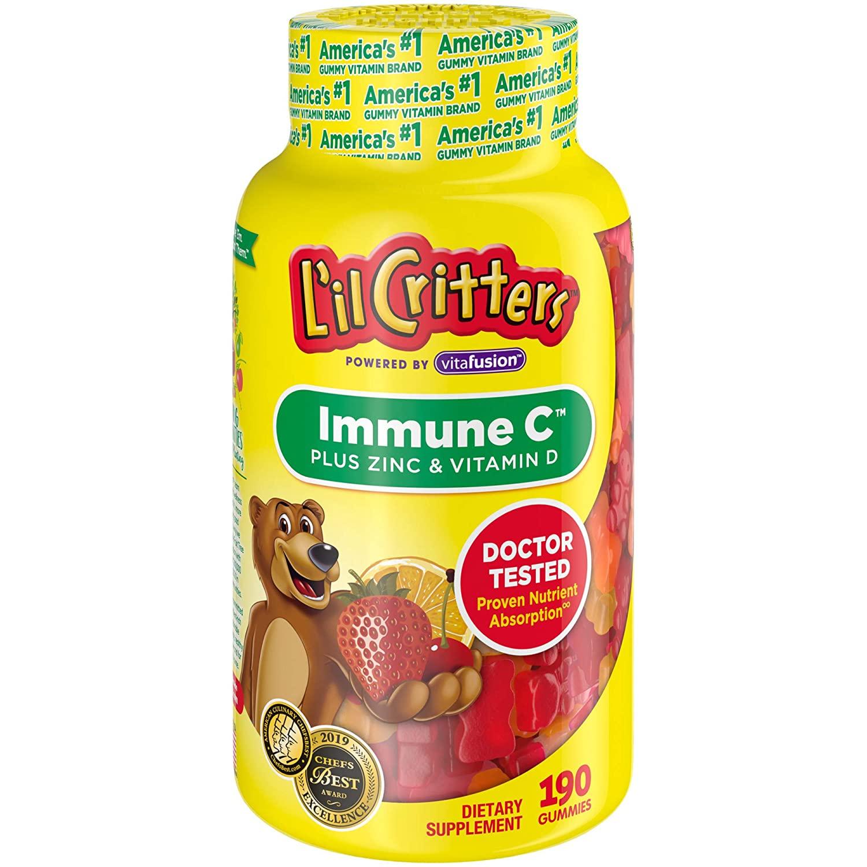 VItamina Infantil Lil Critters Immune C - 190 gomas
