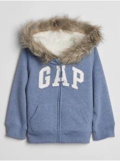 Moleton Gap Infantil com Sherpa Azul Menina