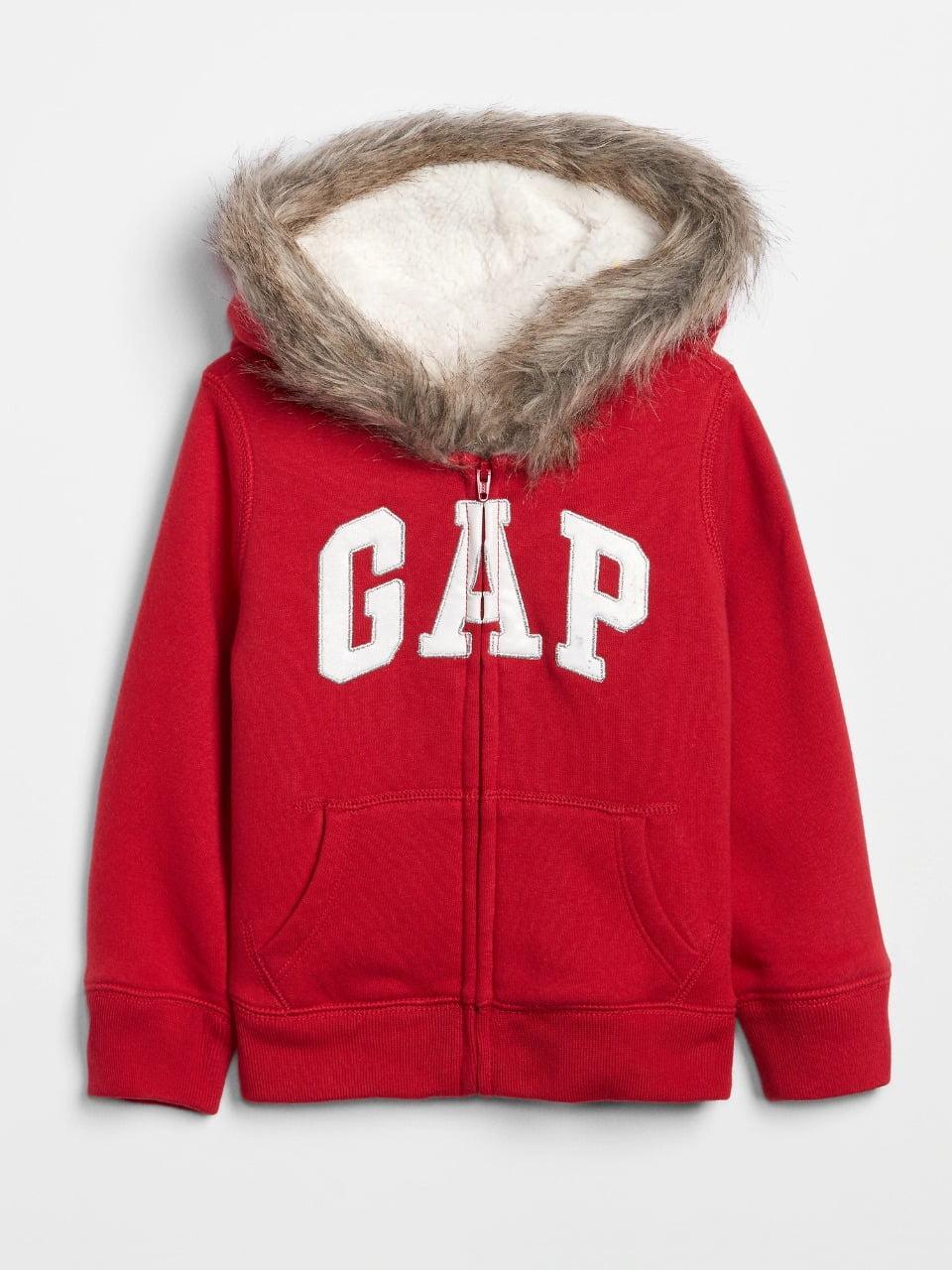 Moleton Gap Infantil com Sherpa Vermelho Menina
