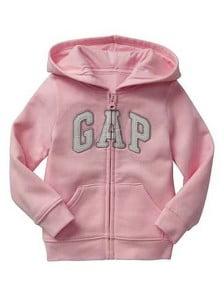 Moleton Gap Infantil Menina Rosa