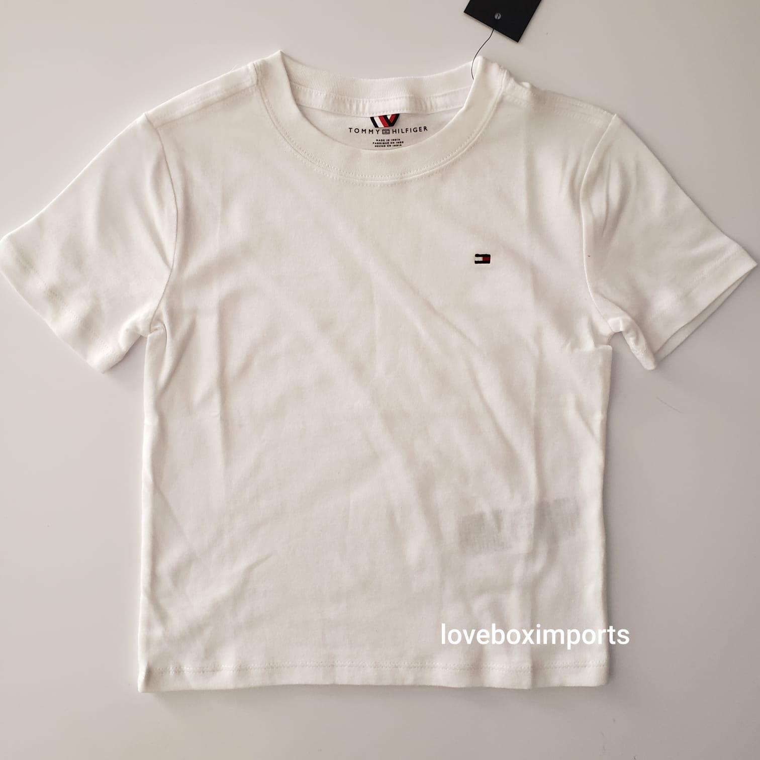 Camiseta Basica Tommy Infantil Branca