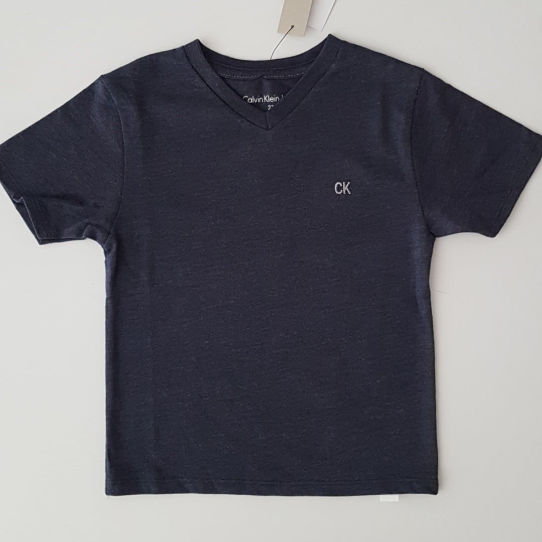 Camiseta Calvin Klein Infantil Azul Menino