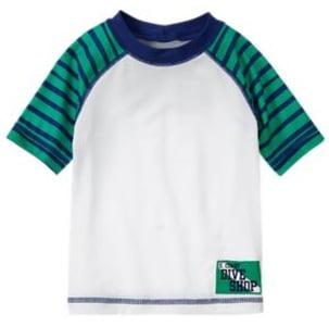 Camiseta Gymboree Manga Curta para Piscina Bco