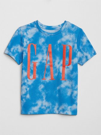 Camiseta Infantil Gap Azul Tie Dye