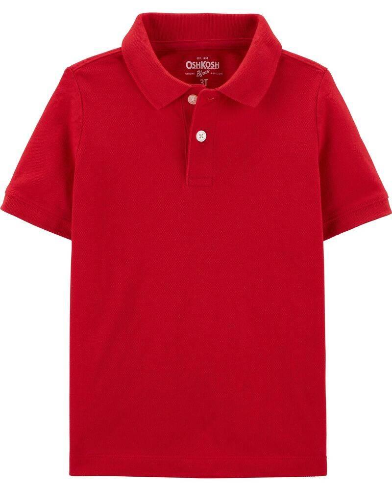 Camiseta Infantil Polo Vermelha Oshkosh