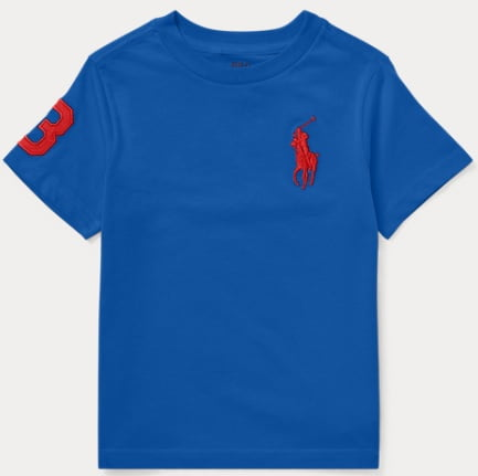 Camiseta Ralph Lauren Infantil Azul Big Pony