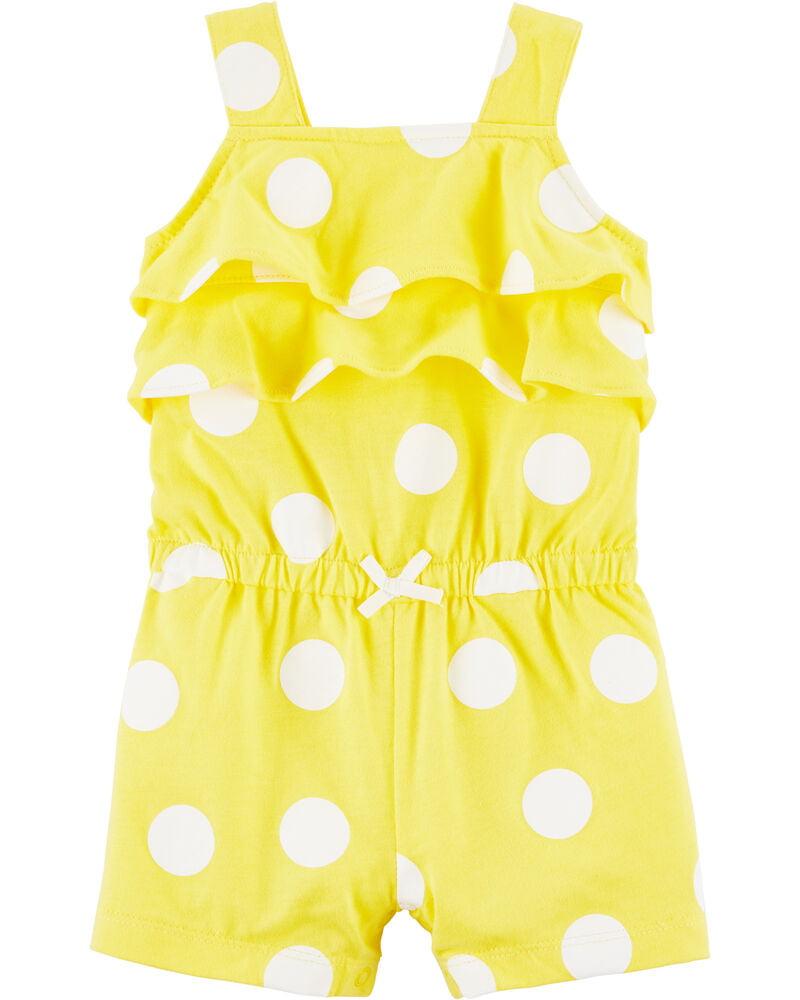 Romper Carters Amarelo Bolinhas Menina