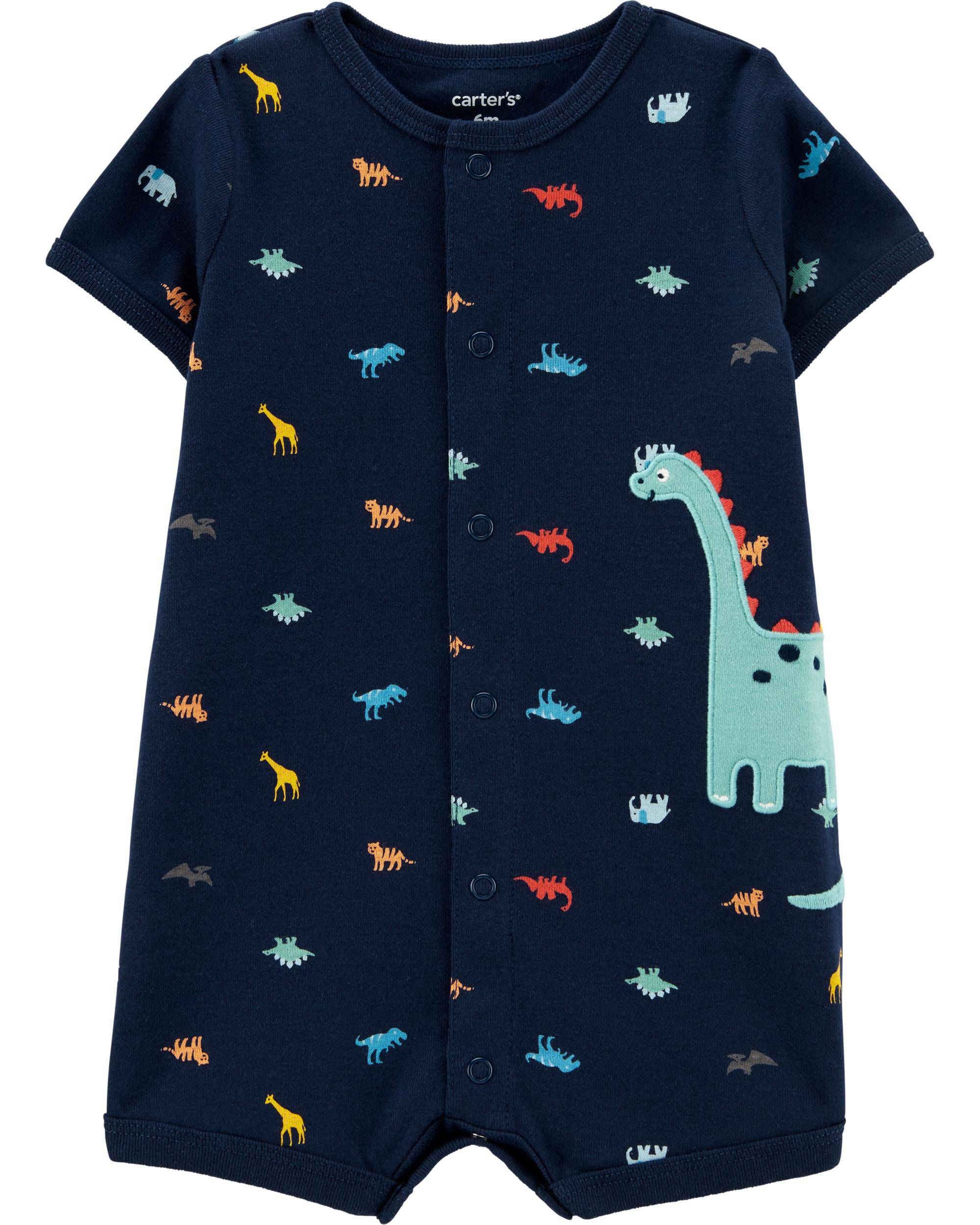 Romper Carters Azul Marinho Dino Menino