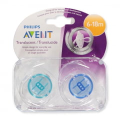 Chupeta Philips Avent Translucent Menino - 6-18m