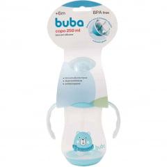 Copo com Alça Ursinho Azul Buba 250ml