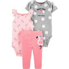 Conjunto Carters Bichinho Flamingo Menina