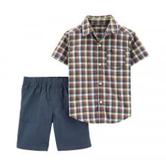 Conjunto Carters Camisa Xadrez Menino