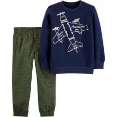 Conjunto Carters  Inverno Avião Menino