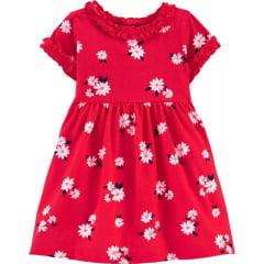 Vestido Carters Vermelho Flores Menina