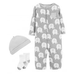 Macacão Carters Cinza Elefante Menino