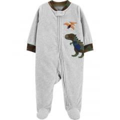 Macacão Carters Fleece Cinza Dino Menino