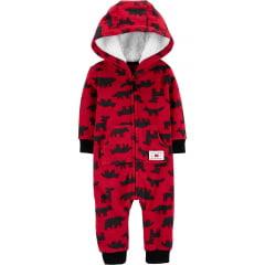 Macacão Carters Fleece Vermelho Menino
