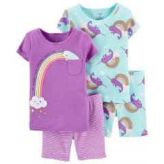 Kit Pijama Carters Arco Íris Menina