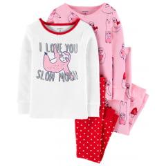 Kit Pijama Carters Bicho Preguiça Menina