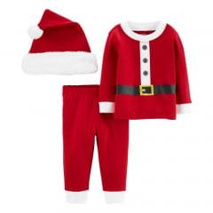 Pijama Carters Natal Vermelho com Gorro