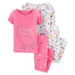 Pijama Carters Rosa Dino Menina