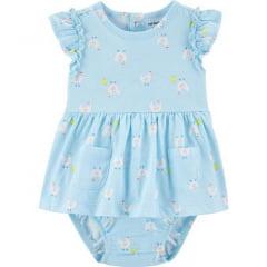Vestido Carters Azul Galinha Menina