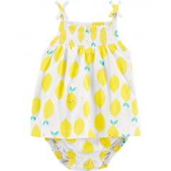 Vestido Carters Limão Menina