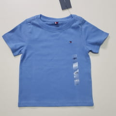 Camiseta Basica Tommy Infantil Azul
