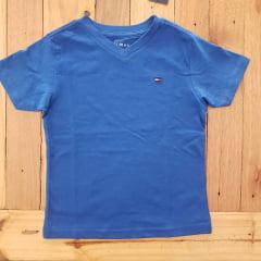 Camiseta Basica Tommy Infantil Gola V Azul