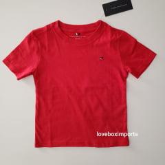 Camiseta Basica Tommy Infantil Vermelha