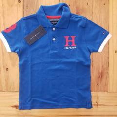 Camiseta Gola Polo Tommy Hilfiger Infantil Azul