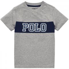 Camiseta Infantil Ralph Lauren Cinza