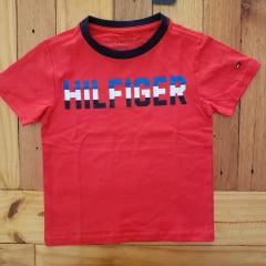 Camiseta Manga Curta Tommy Infantil Vermelha