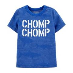 Camiseta Oshkosh Manga Curta Azul Chomp