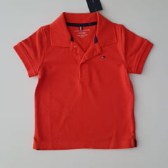 Camiseta Polo Tommy Infantil Laranja
