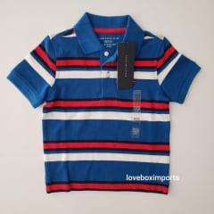Camiseta Polo Tommy Infantil Listrada