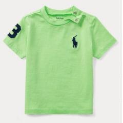 Camiseta Ralph Lauren Infantil Verde Big Pony