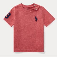 Camiseta Ralph Lauren Infantil Vinho Big Pony
