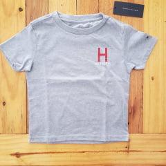 Camiseta Tommy Hilfiger Infantil Cinza
