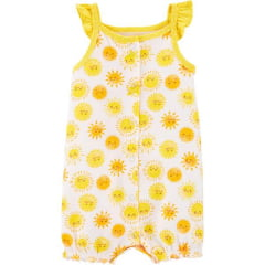 Romper Carters Amarelo Solzinho Menina