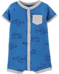Romper Carters Azul Avião Menino