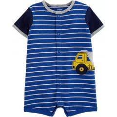 Romper Carters Azul Caminhão Menino