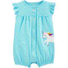 Romper Carters Azul Unicornio Menina